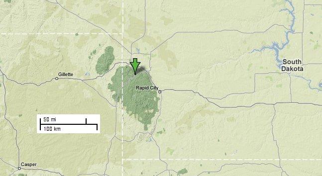 Black Hills Elevation Map.Hotel